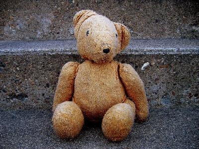worn teddy bear
